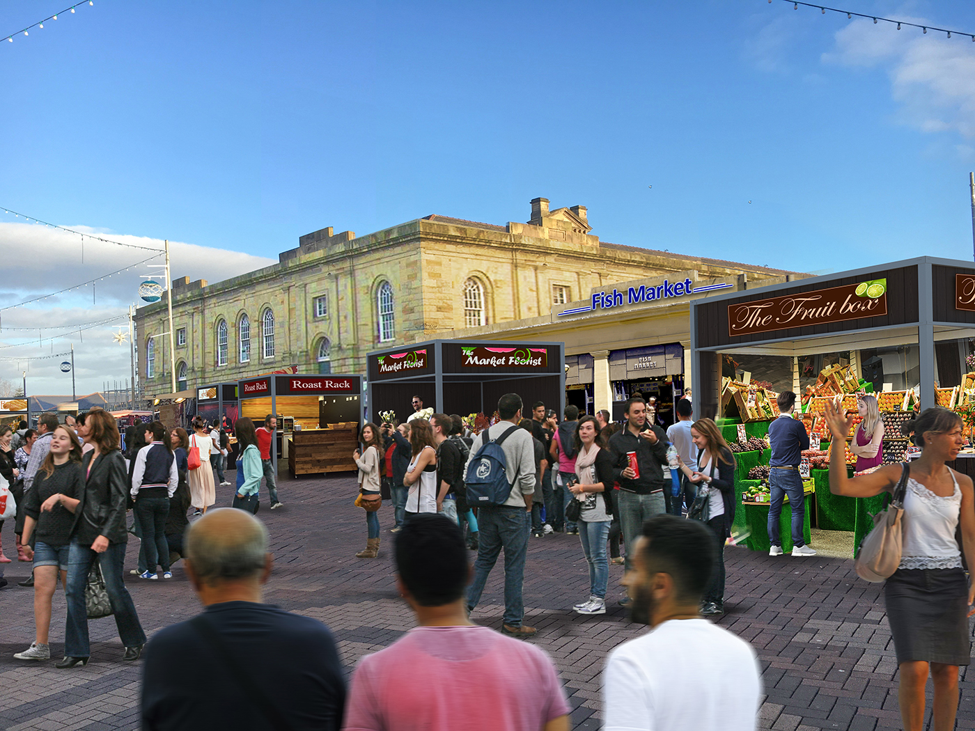 Redeveloped doncaster market